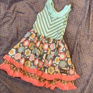 Matilda Jane knit bodice dress EUC size 10